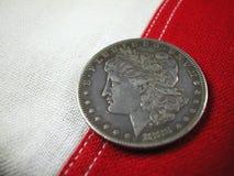 1888 dolara amerykańskiego monet srebra Zdjęcia Stock