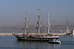 1896年三桅帆贝拉母上了船桅三 免版税库存照片