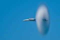 18f航空器超级波音f的大黄蜂 库存图片