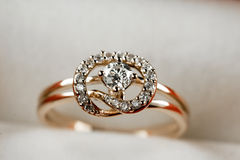 18k gold  Jewelry. The is  18K Diamond jewellery Stock Photography