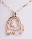 18k gouden juwelen Royalty-vrije Stock Afbeeldingen