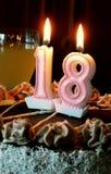 18o aniversário Foto de Stock Royalty Free