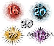 18th 20th день рождения годовщины иллюстрация штока