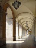 18th century Arcades in Lisbon Royalty Free Stock Photos