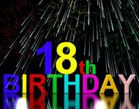 18th eller artonde födelsedag stock illustrationer