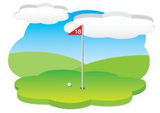 18th hole Royalty Free Stock Images