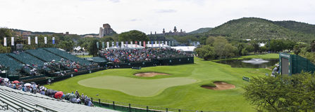 18th Hole - Elevated Panoramic View Stock Photo