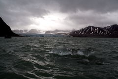 18th July Glacier. Spitsbergen, Svalbard, Arctic Circle royalty free stock photography