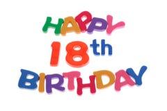 18th lyckliga födelsedag Royaltyfria Bilder