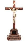 19ο crucifix με το ειδώλιο του Ιησού Στοκ εικόνα με δικαίωμα ελεύθερης χρήσης