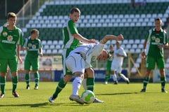 19下比赛kaposvar paks足球 免版税图库摄影