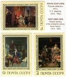 19世纪Fedotov的俄国绘画 免版税库存照片