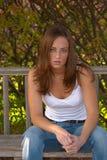 19个妇女年轻人 库存照片