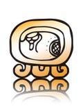 19个日历kawak玛雅人密封向量 免版税图库摄影