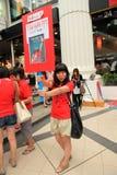 19件曼谷11月拒付红色衬衣泰国 图库摄影