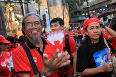 19件曼谷11月拒付红色衬衣泰国 免版税图库摄影
