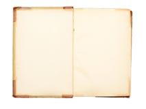 19空白书世纪开放页Th 免版税图库摄影