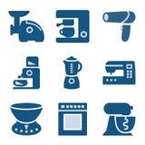 19蓝色图标集 免版税库存图片