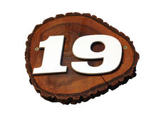 19 αριθμός Στοκ Εικόνα