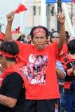 19 рубашек красного цвета протеста bangkok ноября Стоковое Изображение