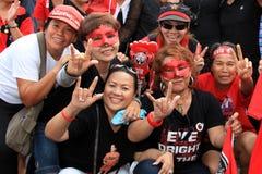 19 рубашек красного цвета протеста bangkok ноября Стоковая Фотография