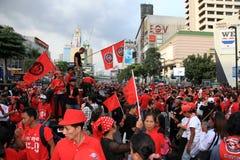 19 рубашек красного цвета протеста bangkok ноября Стоковое Изображение RF