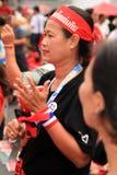 19 рубашек красного цвета протеста bangkok ноября Стоковые Изображения RF