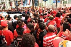 19 рубашек красного цвета протеста bangkok ноября Стоковая Фотография RF