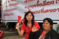 19 рубашек Таиланд протеста bangkok ноября красных Стоковое фото RF