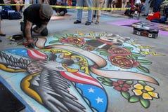 19 2011 белят празднество мелом pasadena -го июнь Стоковое фото RF