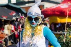 19 2012年狂欢节2月参与者 免版税库存照片