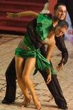 19 35比赛舞蹈拉丁开放年 免版税库存图片