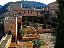 19 alhambra granada Arkivbilder