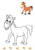 19 djur book färgläggninghästen Royaltyfri Bild