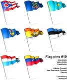 19 flaggastift Arkivfoton