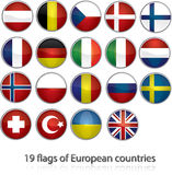 19 flags of european countries royalty free illustration