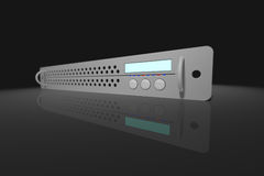 19 inch rack device. 19 rack device (server, hi-fi ...). Image has a DOF, focus is on the display Royalty Free Illustration