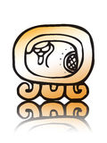 19 Kawak - maya calendar seal vector. Symbol of the 19th seal of Mayan calendar - Kawak Royalty Free Stock Photography