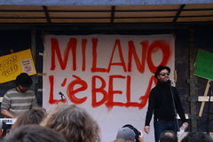 19. März 2011, Marktplatz Fontana, Mailand Lizenzfreies Stockbild