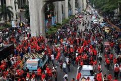 19 röda skjortor thailand för bangkok nov protest Arkivfoto