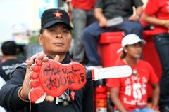 19 skjortor för bangkok nov protestred Arkivbilder