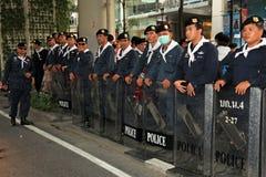 19 skjortor för bangkok nov protestred Arkivbild