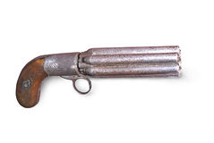 19 th Century sextuple gun  Stock Photo