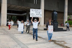 19 upptar anti apec honolulu protest Royaltyfri Foto