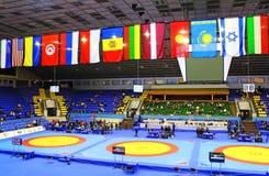 19 zawody międzynarodowe turniej w zapaśnictwie trzymał w Kyiv Zdjęcia Stock