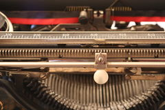 A 1900's typewriter - Macro view Stock Image