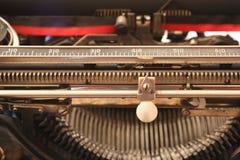 1900's una macchina da scrivere - vista a macroistruzione Immagine Stock
