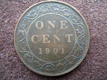 1901年加拿大便士 库存照片