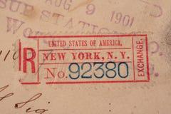 1901年大约美国 免版税图库摄影