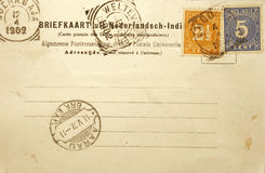 1902年明信片葡萄酒 免版税图库摄影